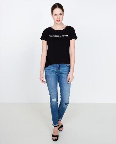 Zwart statement T-shirt